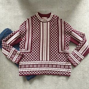 NWOT Tory Burch patterned sweater